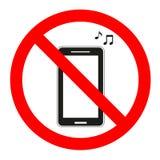 Firmi la musica severa nel telefono su un fondo bianco Immagini Stock Libere da Diritti