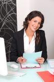 firmowa rekrutacyjna kobieta obraz stock