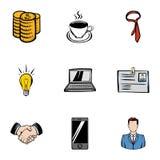 Firmowe ikony ustawiać, kreskówka styl ilustracji