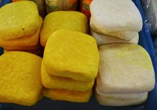 Firmowy tofu sprzedawanie w rynku w Tajlandia fotografia stock