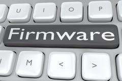 Firmware - systemu pojęcie ilustracja wektor