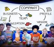 Firmy organizaci pracowników grupy Korporacyjny pojęcie zdjęcie royalty free