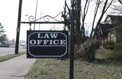 Firmy Prawniczej biura znak zdjęcia stock