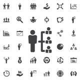 Firmy struktury ikona royalty ilustracja