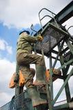 firmy szyb naftowy pracownik Fotografia Stock