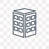 Firmy wektorowa ikona odizolowywająca na przejrzystym tle, liniowy C ilustracji