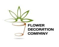 firmy wystroju kwiaciarni logotyp Obraz Stock