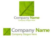 firmy zielony liść logo Zdjęcie Royalty Free
