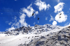 Firn brae and ski lift Stock Photography