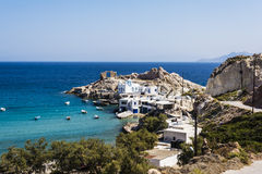Firopotamos Beach at Milos island, Greece Stock Images