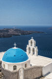 Firostefani church on Santorini Stock Photos