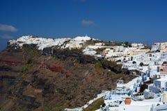 Firostefani et Imerovigli Santorini, îles de Cyclades La Grèce Image libre de droits