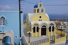 Firostefani - Santorini - Греция стоковое фото