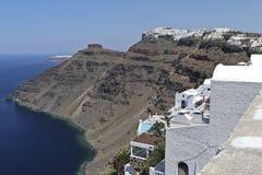 Firostefani, Santorini Photos libres de droits