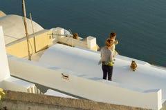 Firostefani, Santorini Zdjęcie Stock