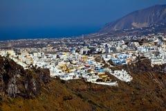 Firostefani, Santorini, Greece Stock Image