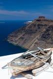 Firostefani Santorini Griekenland Stock Foto