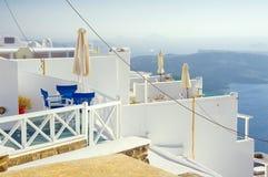 Firostephani, Santorini, Греция стоковое изображение rf