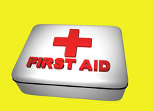 Firs aid 2. Rendered firsst aid kit Stock Images