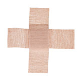Firsr Aid Cross plaster Royalty Free Stock Images