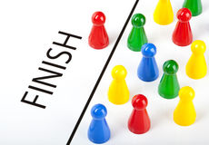 First Across the Finish Line Stock Images