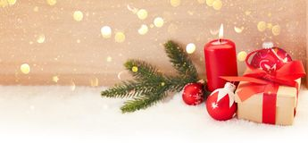 First Advent with candle before Christmas stock image