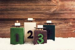 First advent royalty free stock photo