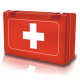 First aid. Kit for the injured Stock Photo