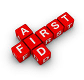 First aid. Cubes 3d crossword Royalty Free Stock Image