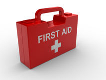 First aid. 3d render illustration of a first aid box Royalty Free Stock Photography