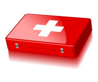 First Aid. Illustration of a suitcase First Aid isolated on a white background Stock Images