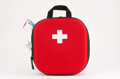 First Aid. Kit on white background Stock Images