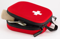 First Aid. Kit on white background Stock Photos