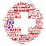 First Aid. Word Collage on First Aid Royalty Free Stock Photo