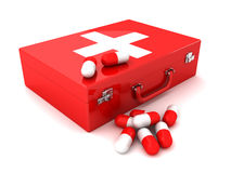 First aid. This is a 3D rendered picture Stock Photo