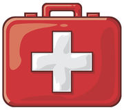 First aid. Bag, emergency bag Stock Images