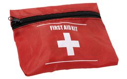 First Aid. Photo of a First Aid Kit - Isolated - Health Related Stock Image