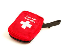 First Aid. Kit on isolate white Stock Photo