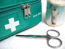 First Aid. Kit royalty free stock photos