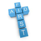 First aid 3D crossword on white background Stock Image