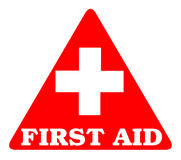 First aid. Symbol with white background Royalty Free Stock Photography