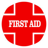 First aid. Symbol with white background Royalty Free Stock Photos
