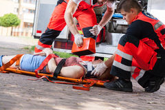First aid after accident royalty free stock image