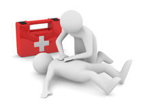 First aid. Artificial breath Stock Photography