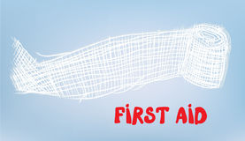 First aid background with bandage. Illustration Royalty Free Stock Photography