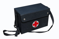 First aid bag. First aid bag isolate on white background stock photos