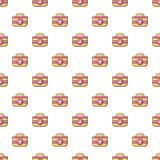 First aid bag pattern seamless. First aid bag pattern in cartoon style. Seamless pattern vector illustration Stock Images