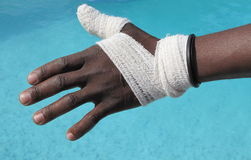 First aid bandage stock photography