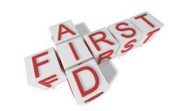 First aid blocks Stock Photo