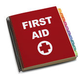 First Aid Book Stock Photo